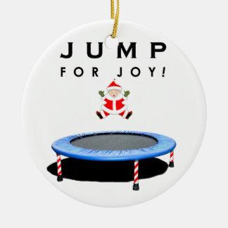 Trampoline-Weihnachten Keramik Ornament