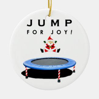 Trampoline Weihnachten sammelbar Keramik Ornament