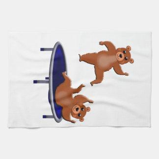 trampolining Bären Handtuch