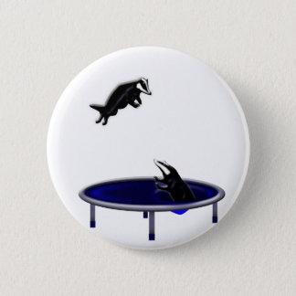 trampolining Dachse Runder Button 5,1 Cm