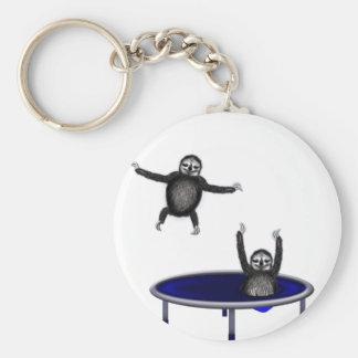 trampolining Trägheiten Standard Runder Schlüsselanhänger