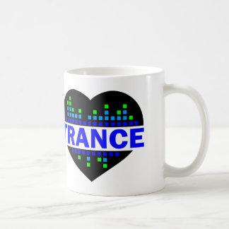 Trance-Herzentwurf Kaffeetasse