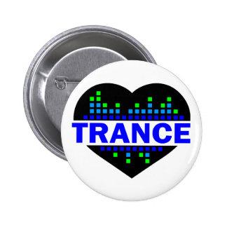 Trance-Herzentwurf Runder Button 5,7 Cm