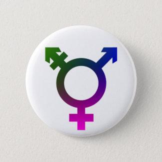 Trans* Symbolrosa/-BLAU/-GRÜN Runder Button 5,1 Cm