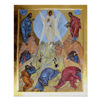 Transfiguration von Christus Poster