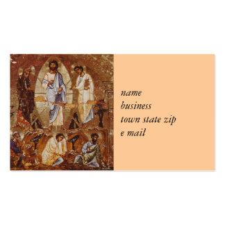 Transfiguration von Christus Visitenkarten