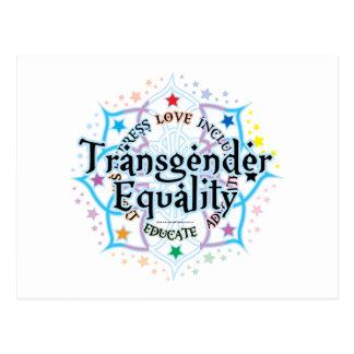 Transgender-Gleichheit Lotus Postkarte