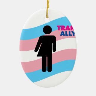 Transgender Ovales Keramik Ornament