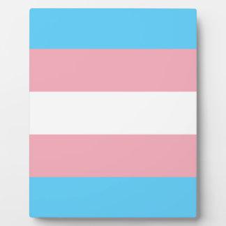 Transgender-Stolz-Flagge - LGBT Fotoplatte