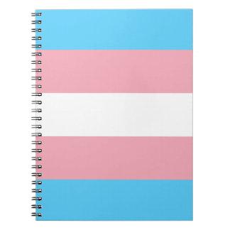 Transgender-Stolz-Flagge - LGBT Notizblock