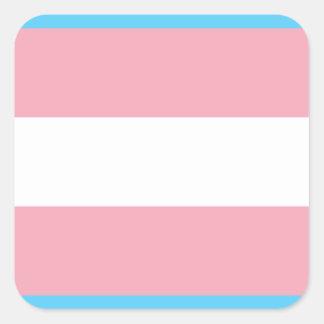 Transgender-Stolz-Flagge - LGBT Quadratischer Aufkleber