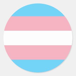 Transgender-Stolz-Flagge - LGBT Runder Aufkleber