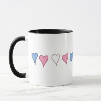 Transgender-Stolz-Herzen Tasse