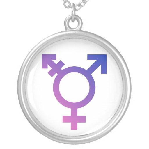 Transgender-Symbol-Logo Amulett