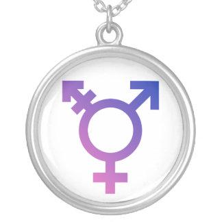 Transgender-Symbol-Logo Halskette Mit Rundem Anhänger