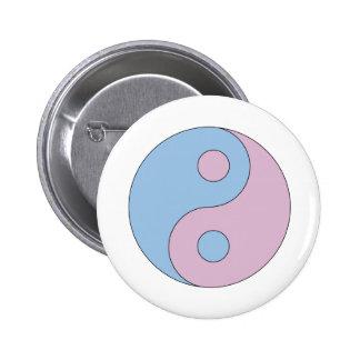 Transgender Yin Yang Symbol Runder Button 5,7 Cm