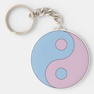 Transgender Yin Yang Symbol Standard Runder Schlüsselanhänger