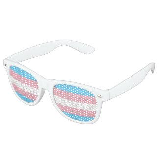 Transgenderstolzflagge Party-Schatten Partybrille