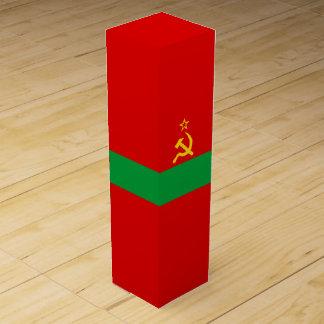 Transnistrien-Flagge Wein-Geschenkverpackung