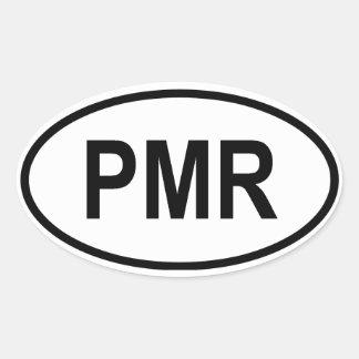 "Transnistrien ""PMR "" Ovaler Aufkleber"