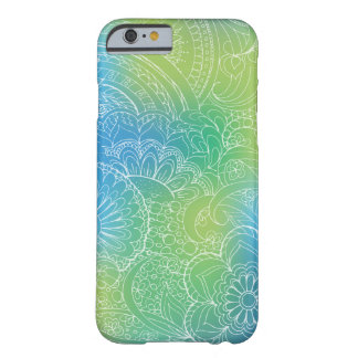 transparent whiter Zen pattern blue gradient Barely There iPhone 6 Hülle