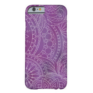 transparent whiter Zen pattern dark violet Barely There iPhone 6 Hülle
