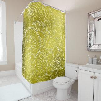 transparent whiter Zen pattern gold gradient Duschvorhang
