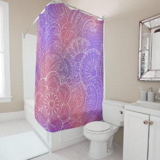 transparent whiter Zen pattern pink gradient Duschvorhang