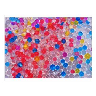 transparente Wasserbälle Postkarte