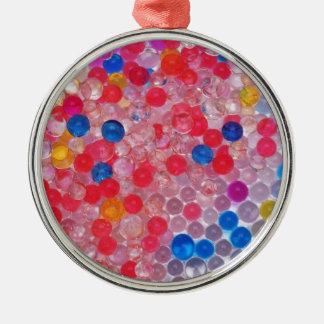 transparente Wasserbälle Silbernes Ornament