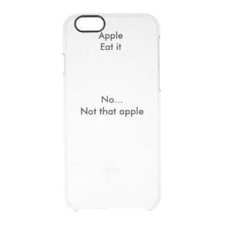 Transparenter iPhone 6 Fall mit Text Durchsichtige iPhone 6/6S Hülle