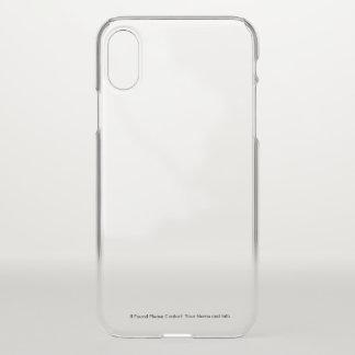 Transparenter iPhone Fall mit kundenspezifischen iPhone X Hülle