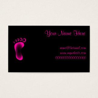 Transparenter rosa Fuß Visitenkarte