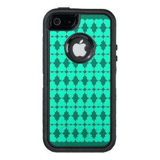 Transparentes elegantes Muster des Klees halb OtterBox iPhone 5/5s/SE Hülle