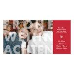 Transparentes Frohe Weihnachten in der roten Foto- Fotokarte