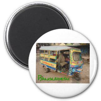 Transport Bangladesch Runder Magnet 5,7 Cm