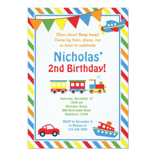 Transport Einladung Zug Geburtstag Laden Ein Einladung Zazzle