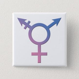 Transport/Genderqueer Stolz-Knopf Quadratischer Button 5,1 Cm