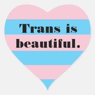 Transport ist schöner Herzaufkleber Herz-Aufkleber