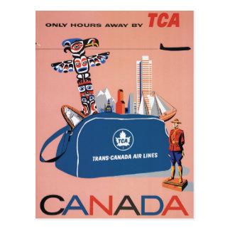 Transport-Kanada Luftverkehrslinien Postkarte