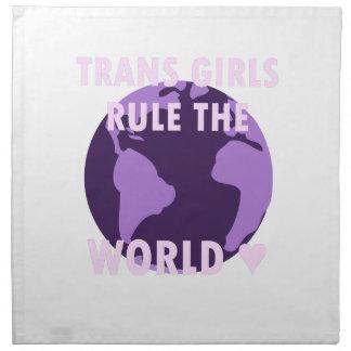 Transport-Mädchen ordnen die Welt an (v1) Serviette