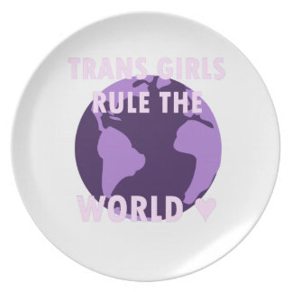 Transport-Mädchen ordnen die Welt an (v1) Teller