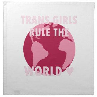 Transport-Mädchen ordnen die Welt an (v2) Stoffserviette