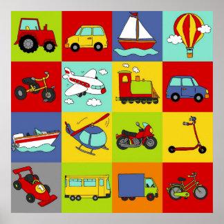 Transport-Mosaik Poster