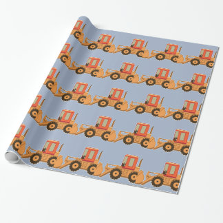 Transport orange Payloader - Blau Geschenkpapier