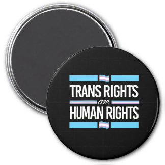 Transport-Rechte sind Menschenrechte - - - Runder Magnet 7,6 Cm