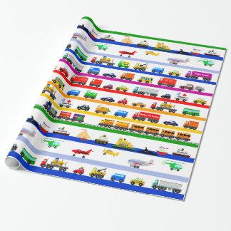 Transport-Spielwaren Geschenkpapier