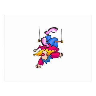 Trapeze-Clown Postkarte