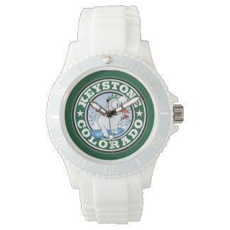 TrapezfehlerSchneemann-Kreis-Uhr Armbanduhr