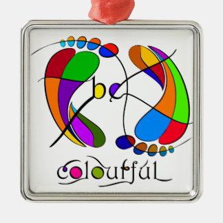 Trapsanella - seien Sie bunt Silbernes Ornament